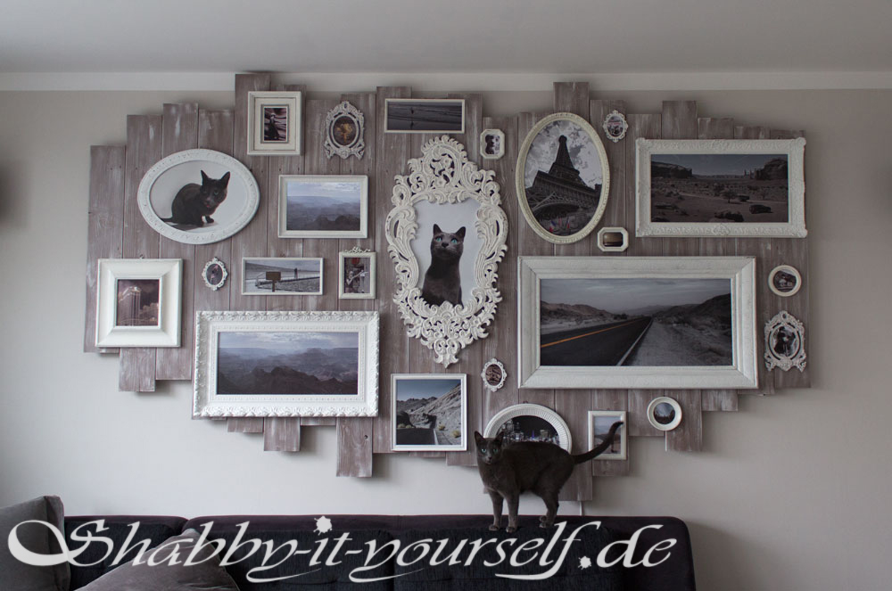 wandbild collage xxl shabby chic version aus bilderrahmen. Black Bedroom Furniture Sets. Home Design Ideas