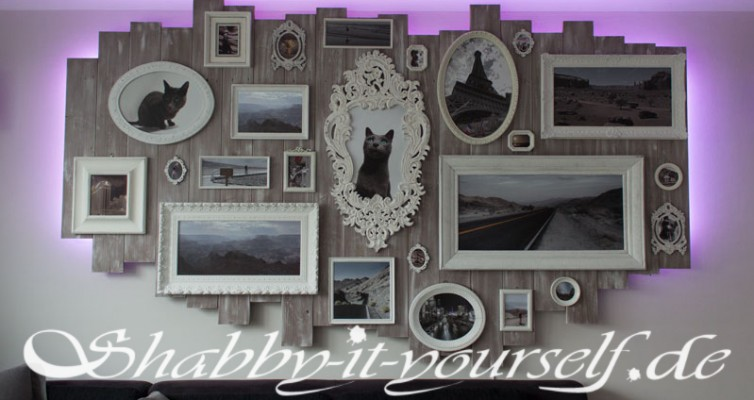 Shabby Chic Wandbild Collage XXL 20