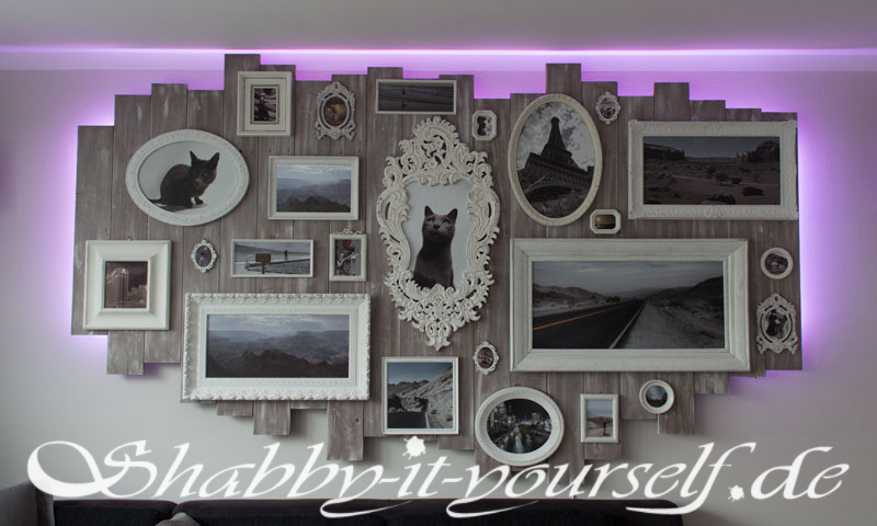Wandbild Collage Xxl Shabby Chic Version Aus Bilderrahmen
