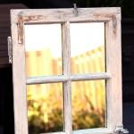 Shabby Chic Fenster-Spiegel 0
