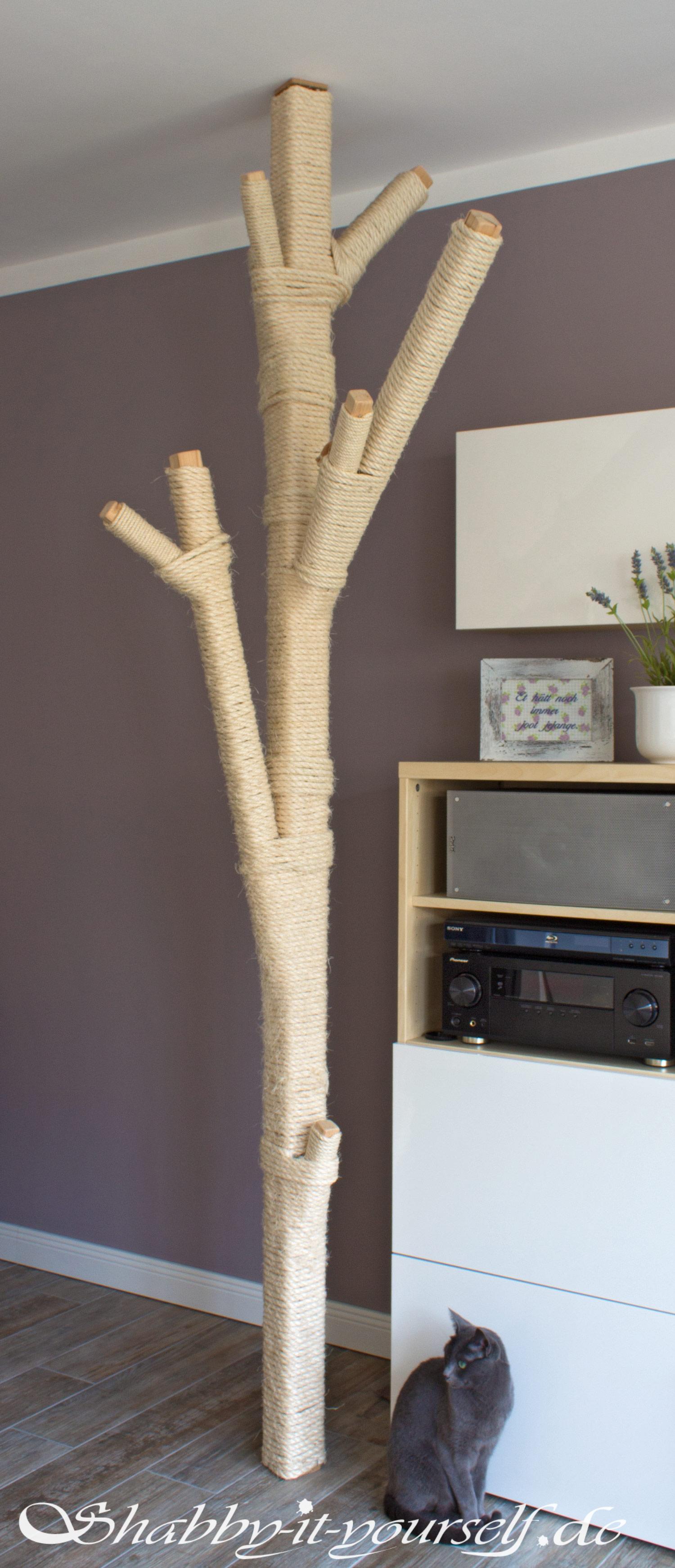 einen schönen kratzbaum selber machen?