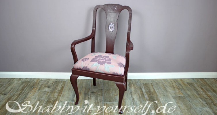 Shabby Chic Polster Sessel Violetta 26a