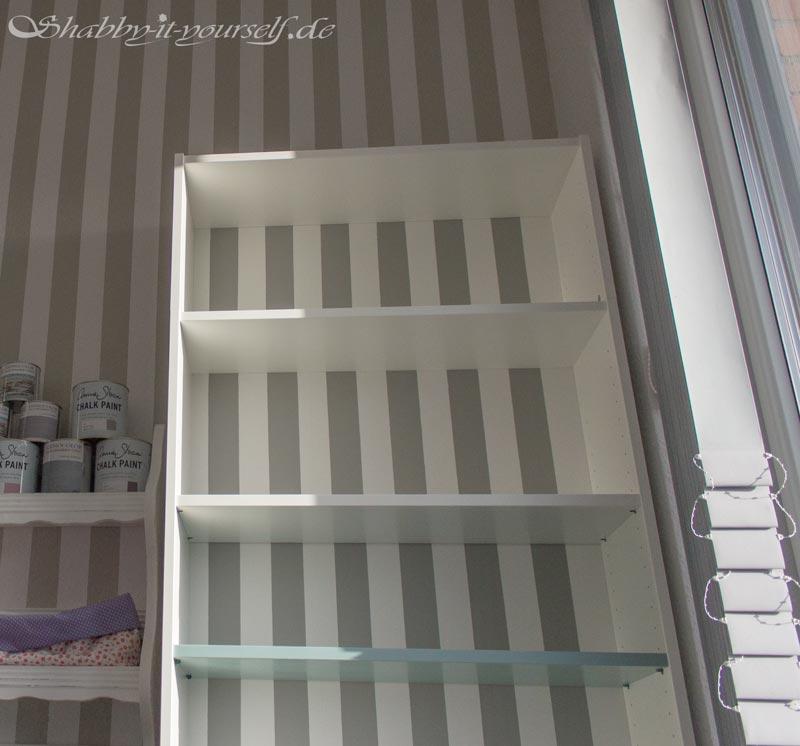 so k nnt ihr ein ikea billy regal in shabby chic gestalten. Black Bedroom Furniture Sets. Home Design Ideas