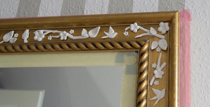 So macht ihr einen einfachen ikea spiegel zum vintage for Spiegel zum aufkleben