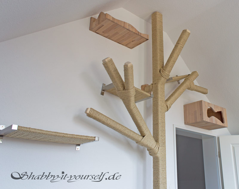 katzen kletterlandschaft mit kratzbaum und catwalk ein diy projekt. Black Bedroom Furniture Sets. Home Design Ideas