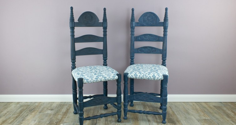 Shabby Chic Thron Stuhl 28