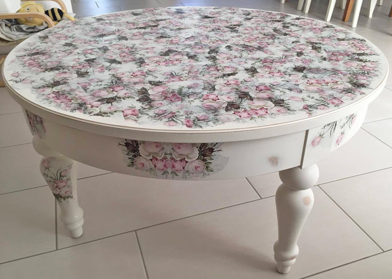 leserprojekt ein h bscher rosen tisch gemacht von adriane. Black Bedroom Furniture Sets. Home Design Ideas