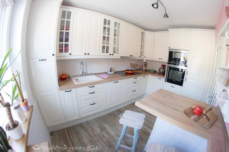 Küche selber bauen - Shabby Chic Kitchen Makeover Finished 10
