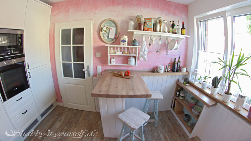 Küche selber bauen - Shabby Chic Kitchen Makeover Finished 15