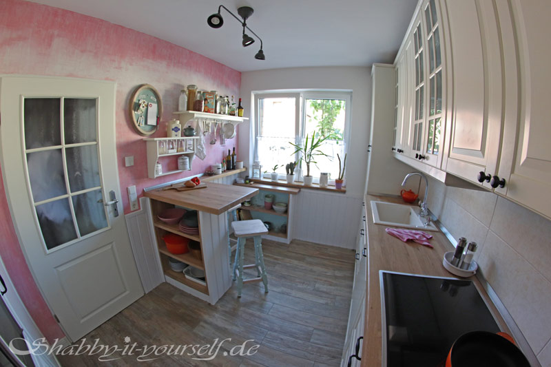 total shabby chic kitchen makeover vom standard zum highlight. Black Bedroom Furniture Sets. Home Design Ideas