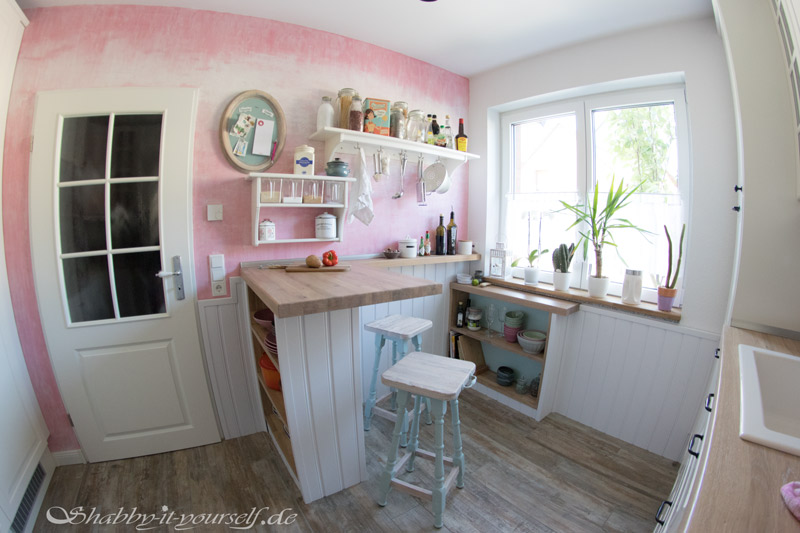 Küche selber bauen - Shabby Chic Kitchen Makeover Finished 9