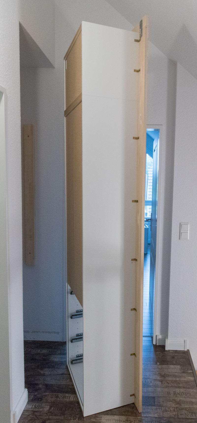 Ikea Einbauschrank ikea hack mit polystyrol leisten und kreidefarbe zum einbauschrank