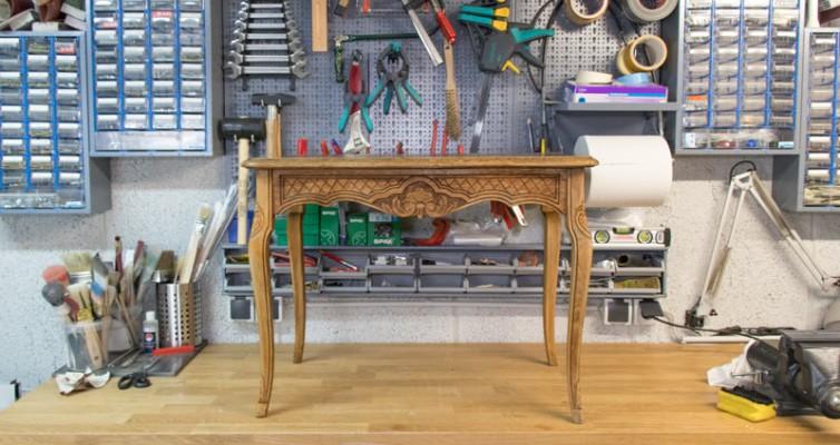 Eiche Rustikal Tisch in Shabby Chic 1
