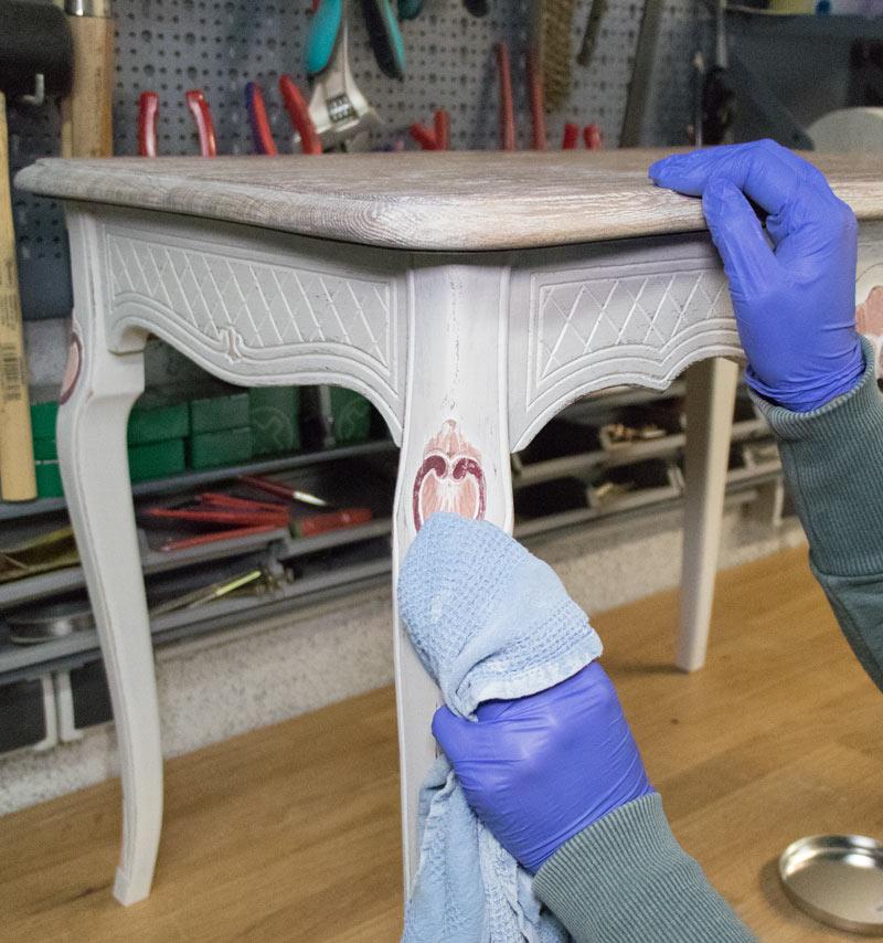 Eiche Rustikal Tisch in Shabby Chic 12