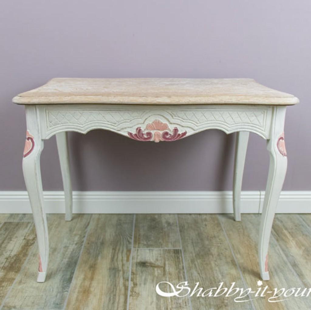 Eiche Rustikal Tisch in Shabby Chic 13