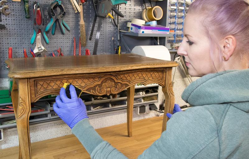 Eiche Rustikal Tisch in Shabby Chic 3