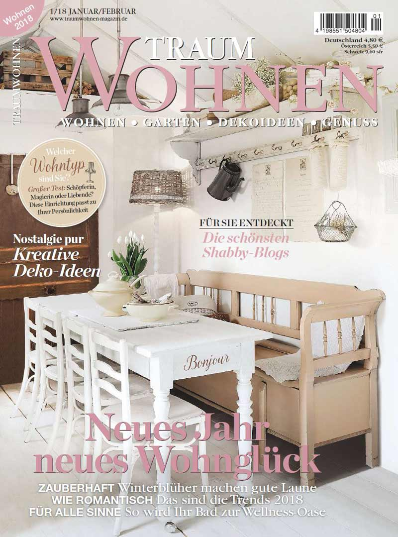 cover traumwohnen die schoensten shabby blogs shabby it. Black Bedroom Furniture Sets. Home Design Ideas