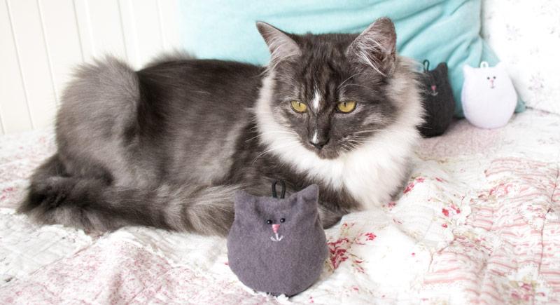 Glücksbringer Katze selber nähen 16