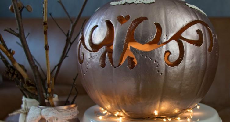 Shabby Chic Vintage Herbst Deko Kürbis Halloween 16