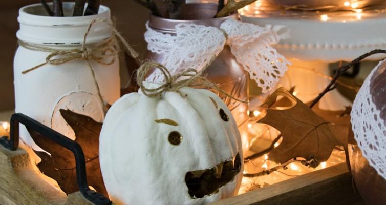 Shabby Chic Vintage Herbst Deko Kürbis Halloween 17