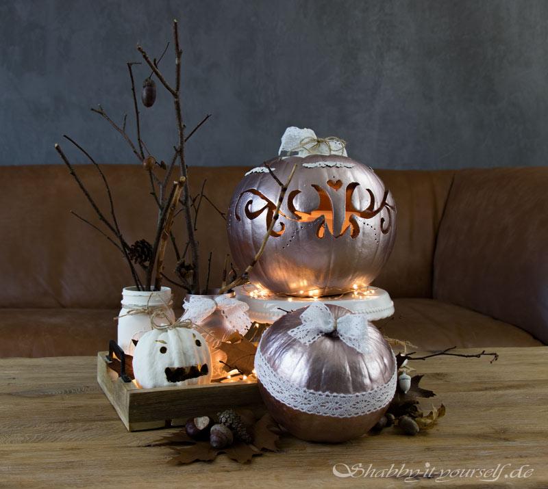 Shabby Chic Vintage Herbst Deko Kürbis Halloween 18