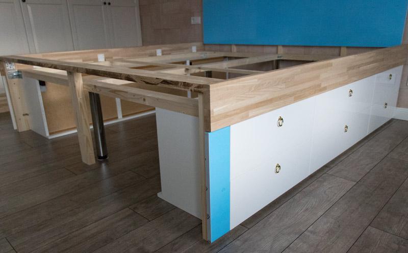 DIY Bett selber bauen 8