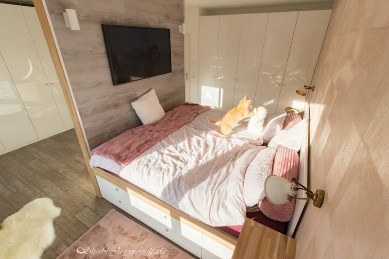DIY Bett selber bauen 35