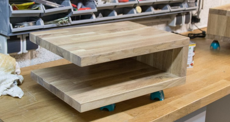 DIY schwebenden Nachttisch selber bauen 5