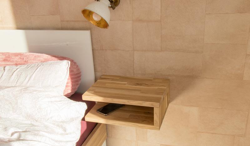 DIY schwebenden Nachttisch selber bauen 6