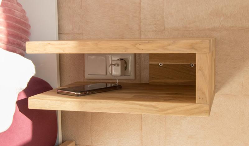 DIY schwebenden Nachttisch selber bauen 7