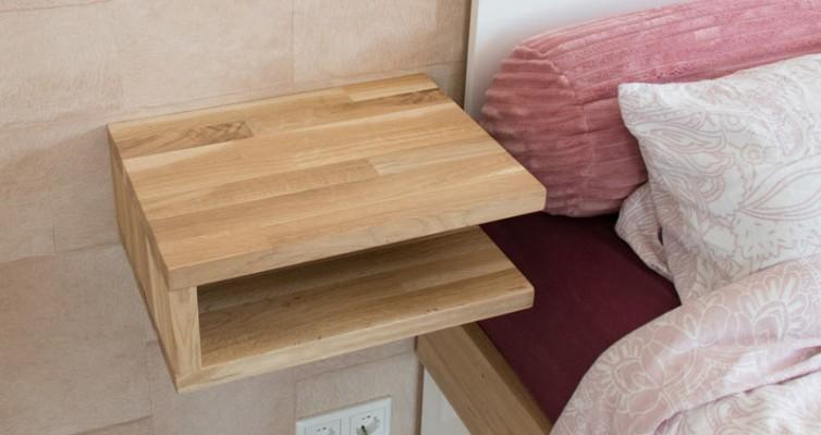 DIY schwebenden Nachttisch selber bauen 8
