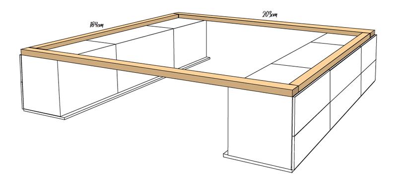 DIY Bett selber bauen 62