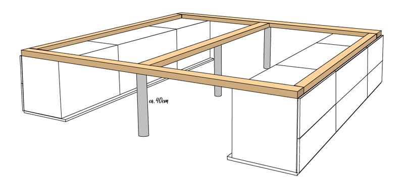 DIY Bett selber bauen 63