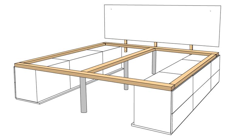 DIY Bett selber bauen 65
