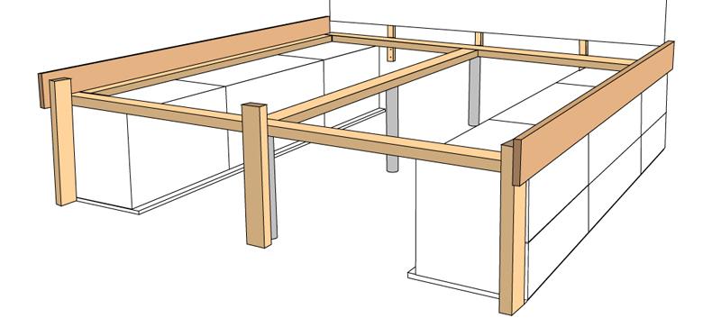 DIY Bett selber bauen 66