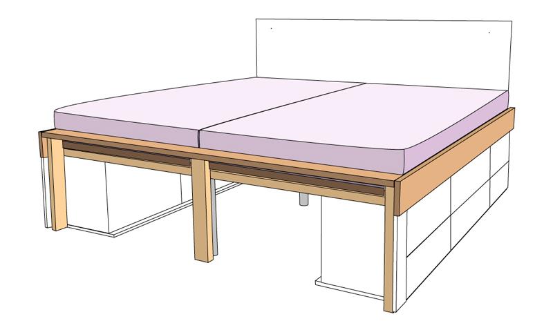 DIY Bett selber bauen 68