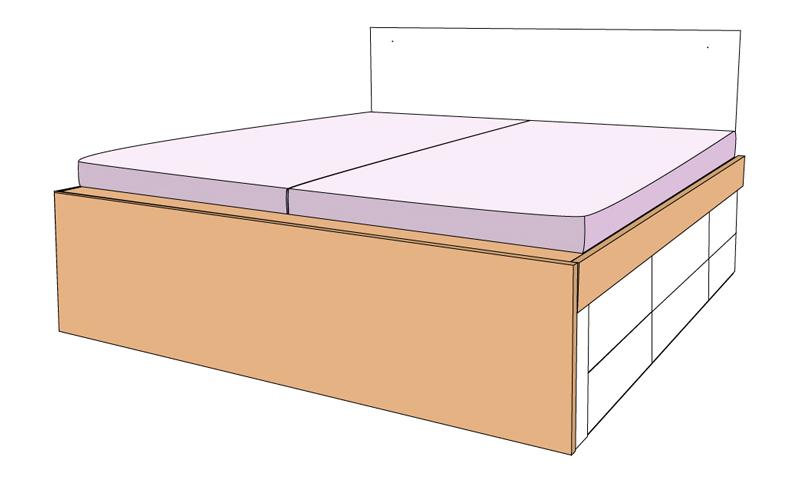 DIY Bett selber bauen 69