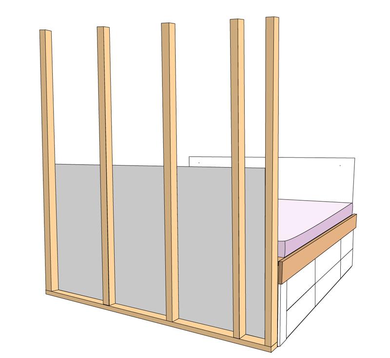 DIY Bett selber bauen 70