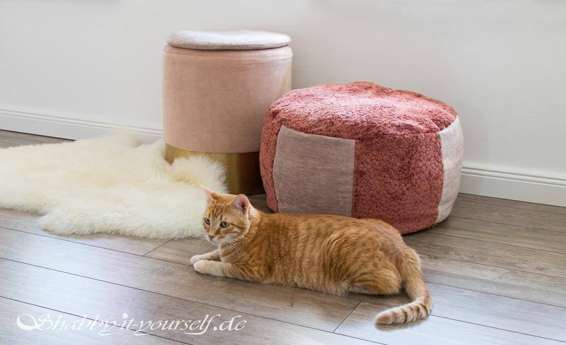 Sitzpouf Katzenbett naehen 8