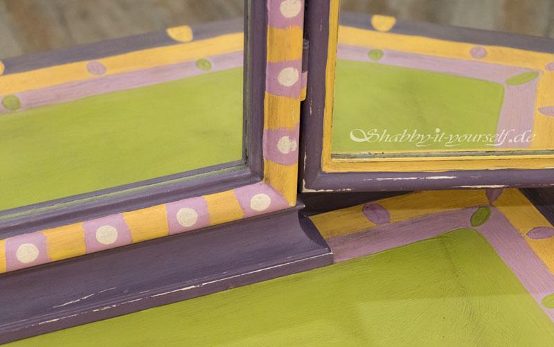 Annie Sloan Charleston Collection Spiegelkommode - Verschiedene Muster treffen aufeinander