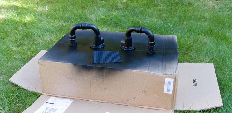Industrial Style Lampe bauen Deckenlampe - Wasserrohre lackieren