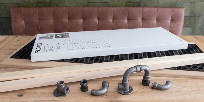 Industrial Style Lampe bauen Deckenlampe - Die Materialien