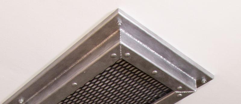 Industrial Style Lampe bauen Deckenlampe - Schrauben mit Gewindemuttern kaschieren