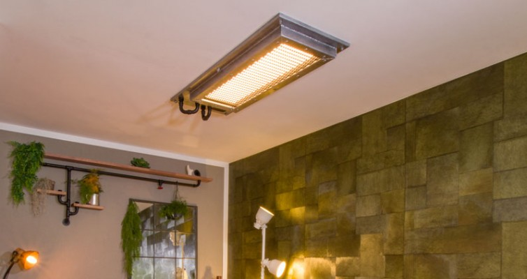 Industrial Style Lampe bauen Deckenlampe - Die fertige Lampe