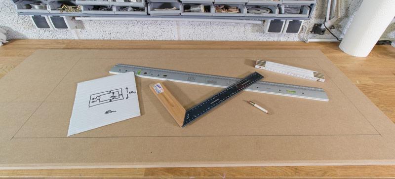 Industrial Style Lampe bauen Deckenlampe - MDF anzeichnen