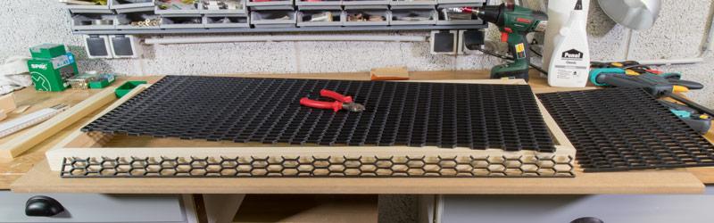 Industrial Style Lampe bauen Deckenlampe - Gitter zuschneiden