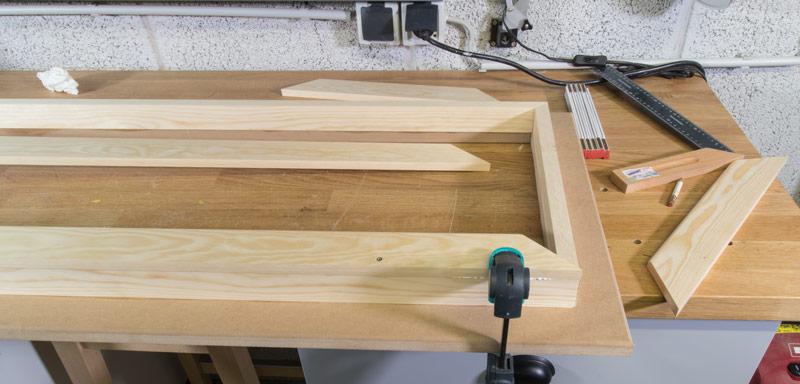 Industrial Style Lampe bauen Deckenlampe - Rahmen leimen