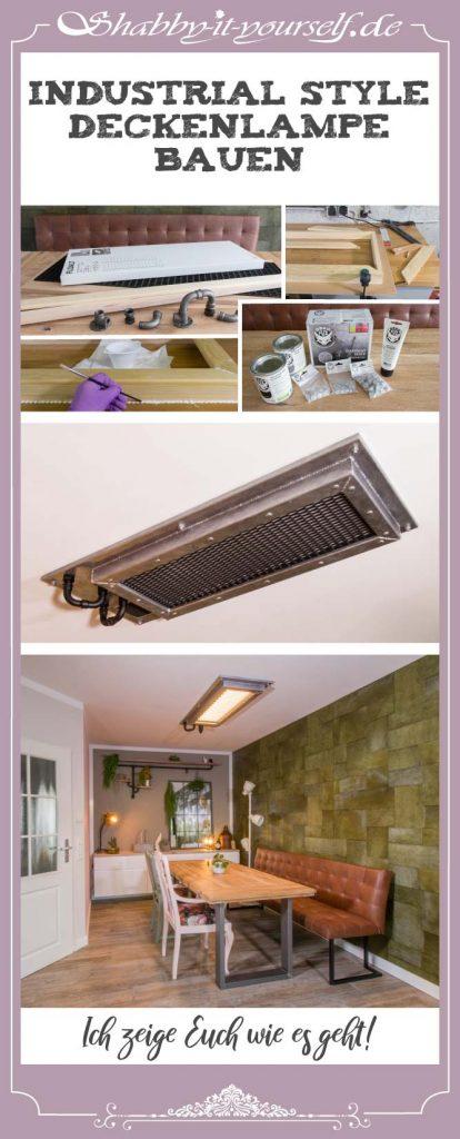 Industrial Style Lampe bauen Deckenlampe - PIN