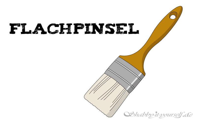 Zeichnung Flachpinsel