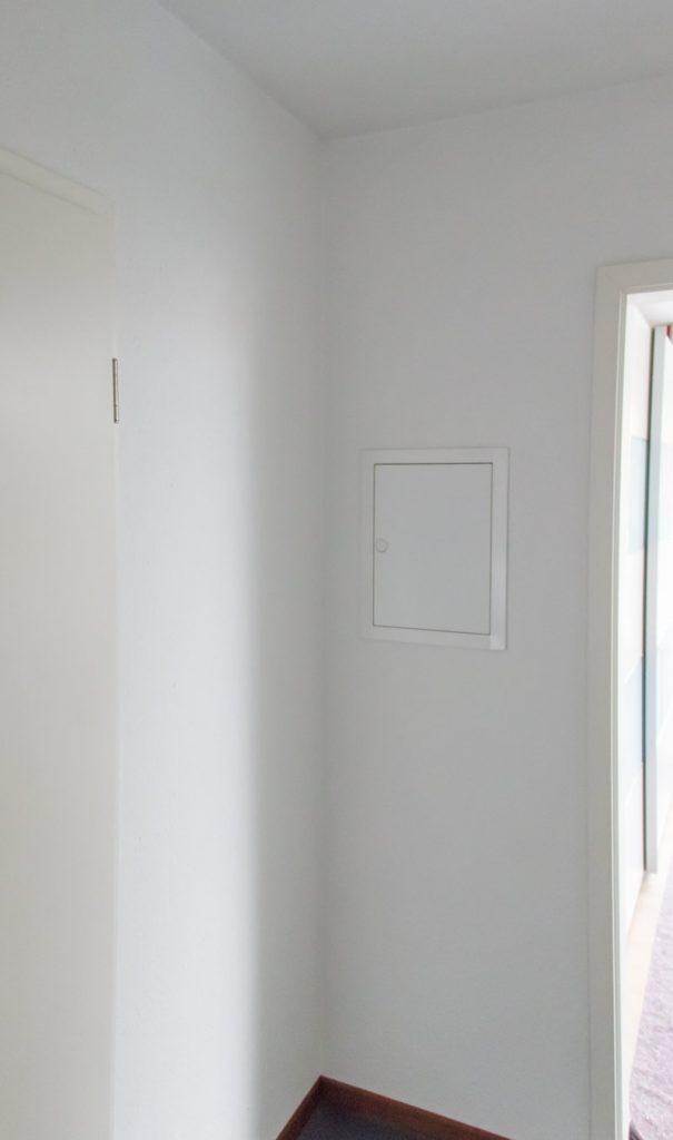 Garderobe im Flur gestalten mit Tapete - Vorher
